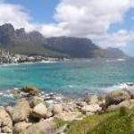 Camps Bay in Panorama view from the headlands