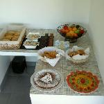 Une partie du buffet du petit déjeuner..