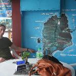 My husband Mark at the Adventure Dive Shop in Dumaguete