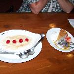 Rice pudding and Chef Al's cheesecake