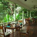 the main porch/dining/lounging area