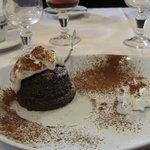 Tortino al cioccolato con cuore caldo e fondente