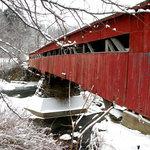 Taftsville Covered Bridge over the River