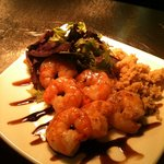 king prawns in a sweet chilli glaze
