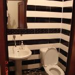 One of our three shared WC and bathrooms