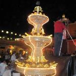 champagne fountain on New Year
