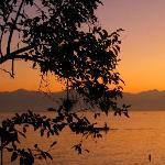 beautiful sunset over lake izabel