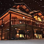 Snowing at Blackstone Lodge
