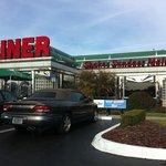 outside 50's diner