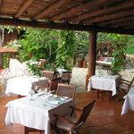An elegant outdoor restaurant