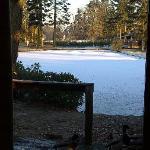 Outside the lodge!