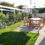 Le jardin à disposition des hôtes