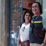 With my wife in the front door