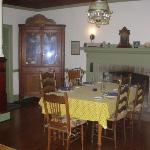 Dining area of Asa Cline House