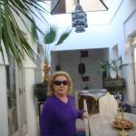 the beautiful lobby of the Riad Safa