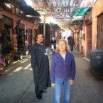 our wonderful private tour guide in the Medina