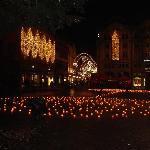 Basel lights at night