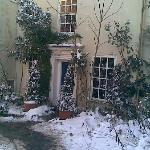 churchgates in the snow