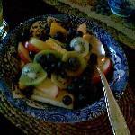 fresch fruit at the breakfast