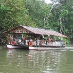 Lunch while cruising Loboc River