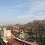 Vue de l'hotel sur le parc de Gülhane dans la partie inférieure de Topkapi