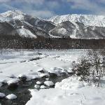 冬の白馬大橋からの眺め
