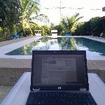 Wifi by the pool
