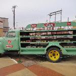 Dr. Pepper truck outside