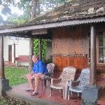 my Dad on the bungalow verandah