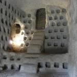 Pidgeon holes inside the cave
