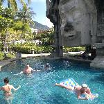 The swimming pool area is the best part of Phuket Orchid Resort. There are several pools of whic