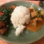 Red curry and basil seafood