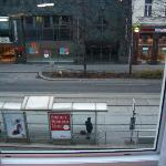 View from room to the streetcar station