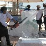Ice Sculpting - very entertaining
