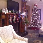 lobby at holiday time