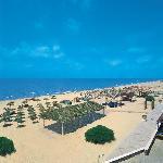 La spiaggia di sabbia bianca