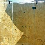 Stunning open roof shower/bath