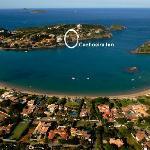 Aerial view of Ferradura Bay and Beach.