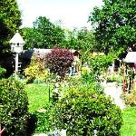 Wander the garden and enjoy the sun and animals