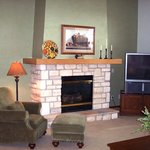 Every unit has a cozy fireplace and relaxing armchairs!