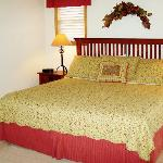 Enjoy king sized comfort in our comfortable bedrooms