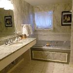 The beautiful bathroom in the Norman Rockwell room