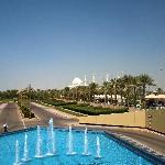 The Sheik Zayed Mosque from the hotel