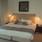 Very comfertable king size bed and to the right a walk in wardrobe