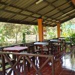open breakfast/dining veranda in common building
