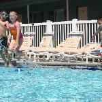 Kids had a blast in the pool the following year when I brought them