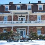 Reynolds Mansion covered in snow