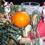 Weihnachtliche Stimmung im Restaurant