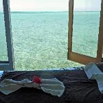 View from the spa treatment room