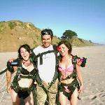 SKydiving in Bikinis with Beach landing Skydive SUrfcity, Santa Cruz